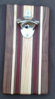 Magic Bottle Opener 16 - 030. Black Walnut, Hard Maple & Bloodwood.