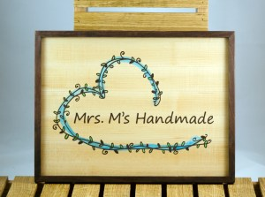 Booth 4 - Mrs M Logo Sign