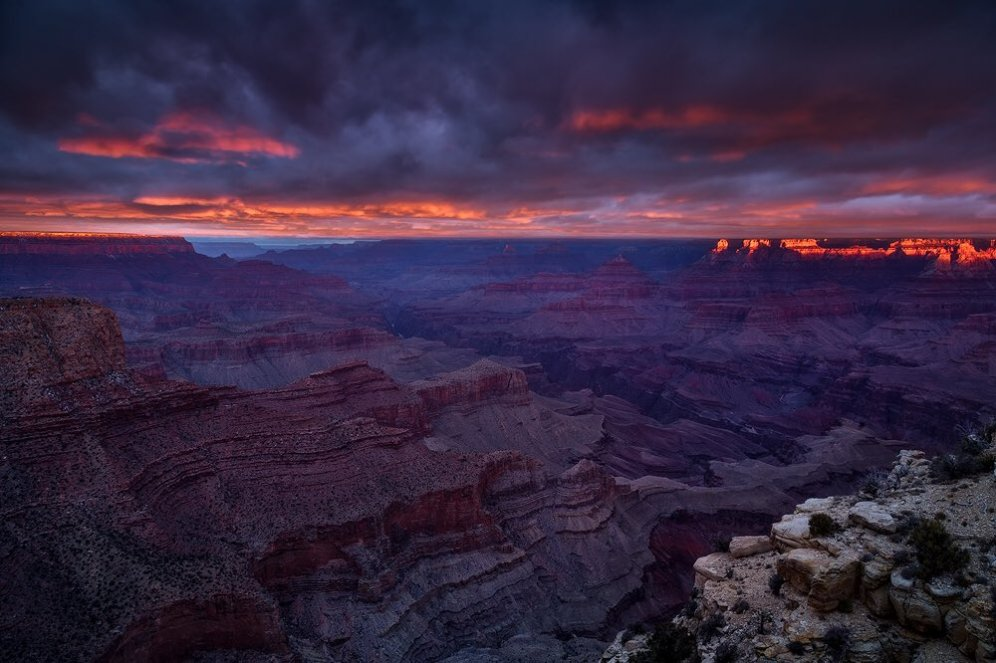 Sunrise over Arizona's Grand Canyon National Park. Photo by Scotty Perkins. Tweeted by the US Department of the Interior, 5/15/16.