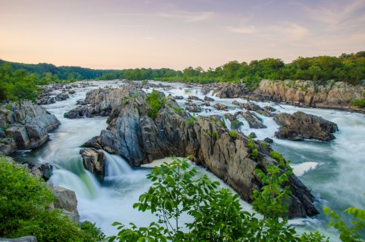 Great Falls Park in Virginia offers an exhilarating escape into the beauty and power of nature. From a cliff above the Potomac River, you can marvel at the rushing water pouring over a massive series of falls. It's truly an impressive sight. Photo by Kristopher Schoenleber. Posted on Tumblr by the US Department of the Interior, 6/1/16.
