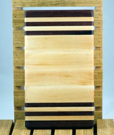 """Small Board 16 - 014. Purpleheart & Hard Maple. 7"""" x 12"""" x 1-1/4""""."""