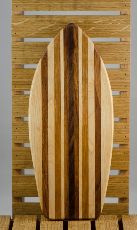 Small Surfboard 16 - 04. Hard Maple, Jatoba & Black Walnut.