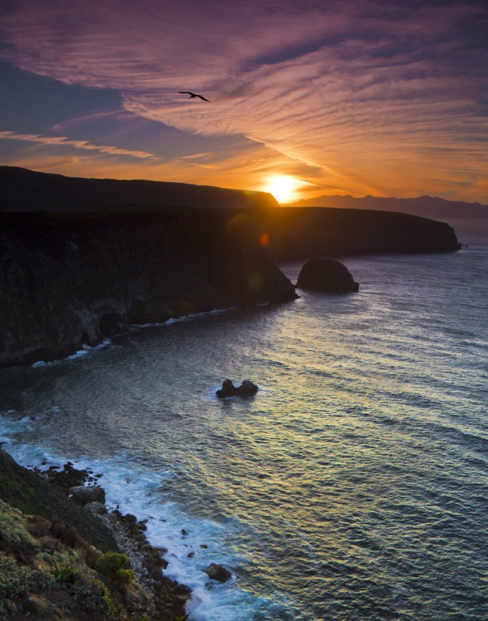 Sunset at California's Channel Islands National Park. Photo by Kurt Schuette. Tweeted by the US Department of the Interior, 7/30/16.