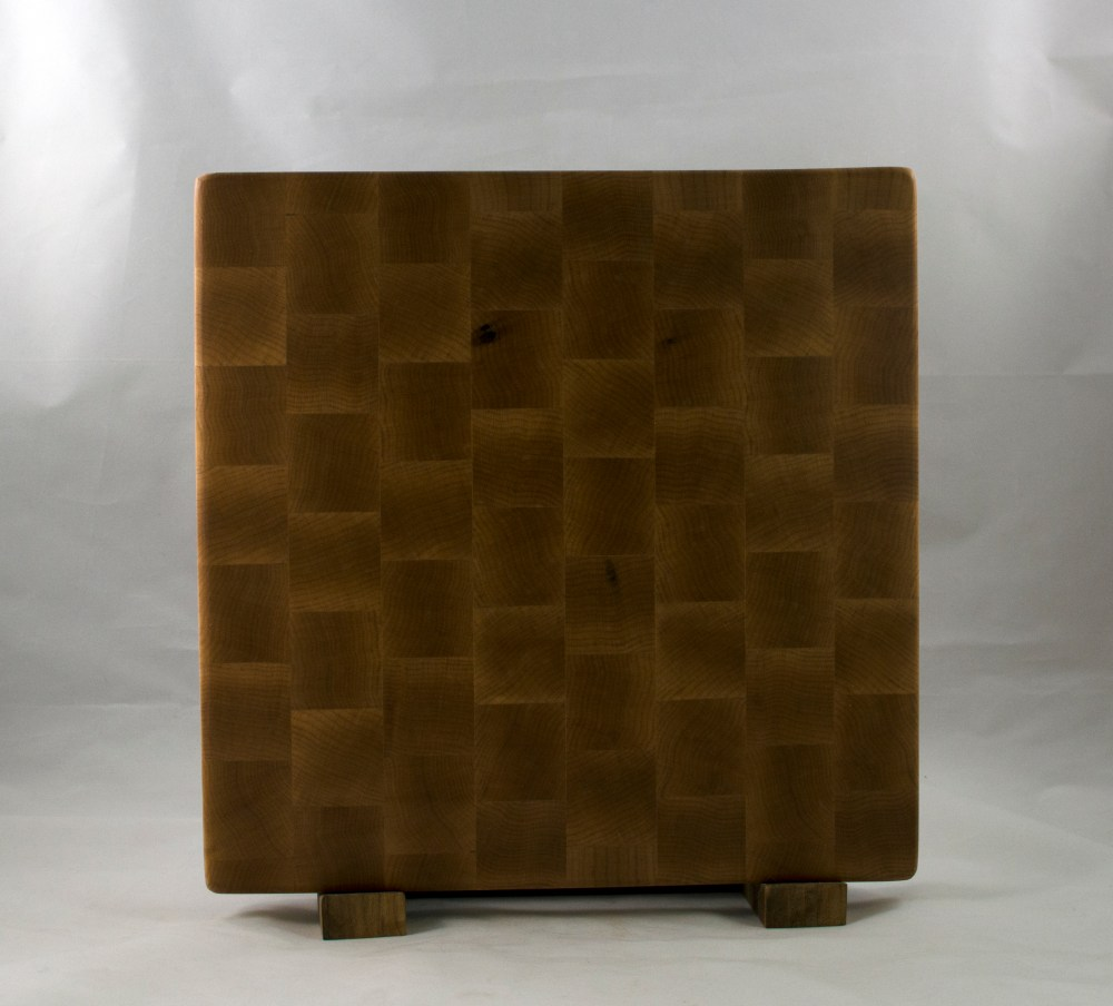 "Cutting Board 16 - End 039. Hard Maple. End Grain. 13"" x 13"" x 1-1/2""."