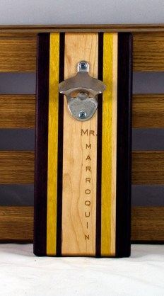 Engraved 16 - 19. Black Walnut, Yellowheart & Hard Maple. Double Magic.
