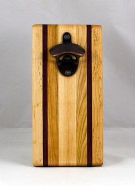 Magic Bottle Opener 16 - 134. Hard Maple, Cherry & Bubinga. Single Magic.