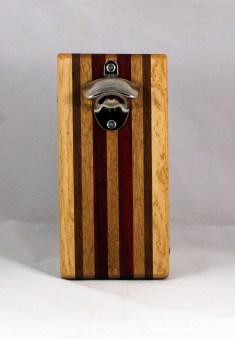 Magic Bottle Opener 16 - 142. Birdseye Maple, Black Walnut, Mahogany & Padauk. Double Magic.