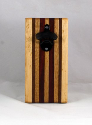 Magic Bottle Opener 16 - 151. Birdseye Maple, Jatoba, Mahogany & Padauk. Double Magic.