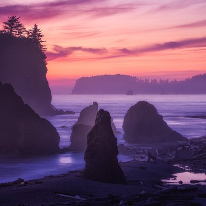 Stunning sunsets are just one of the many amazing things to enjoy Olympic National Park. Photo by Grant Longenbaugh. Tweeted by the US Department of the Interior, 9/28/16.