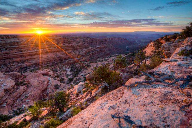 Utah's Road Canyon Wilderness Study Area at sunset. Tweeted by the US Department of the Interior, 8/31/16.