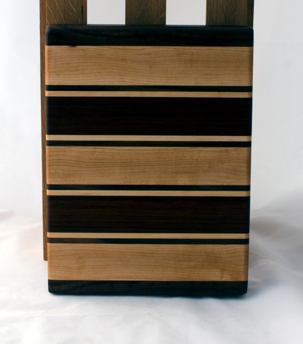 """Small Board 16 - 030. Black Walnut, Hard Maple & Jatoba. 8"""" x 12"""" x 1-1/8""""."""