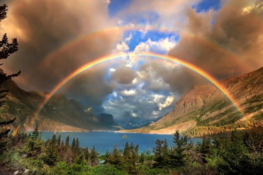 A stunning morning in Montana! Enjoy the double rainbow in Glacier National Park. Photo by Jeff Berkes. Tweeted by the US Department of the Interior, 9/27/16.