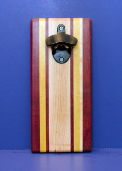 Magic Bottle Opener 16 - 169. Purpleheart, Yellowheart & Hard Maple. Double Magic.