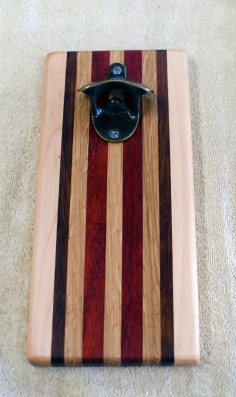 Magic Bottle Opener 174. Hard Maple, Jatoba, White Oak & Padauk. Single Magic.