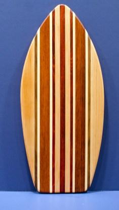 "Medium Surfboard 16 - 18. Hard Maple, Black Walnut & Jatoba. 8-1/2"" x 20"" x 3/4""."