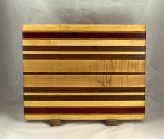 Cutting Board 16 - Edge 031. Hard Maple, Cherry, Jatoba & Padauk. Edge Grain.
