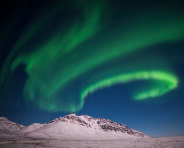 The aurora borealis over Gates of the Arctic National Park. Tweeted by the US Department of the Interior, 12/12/16.