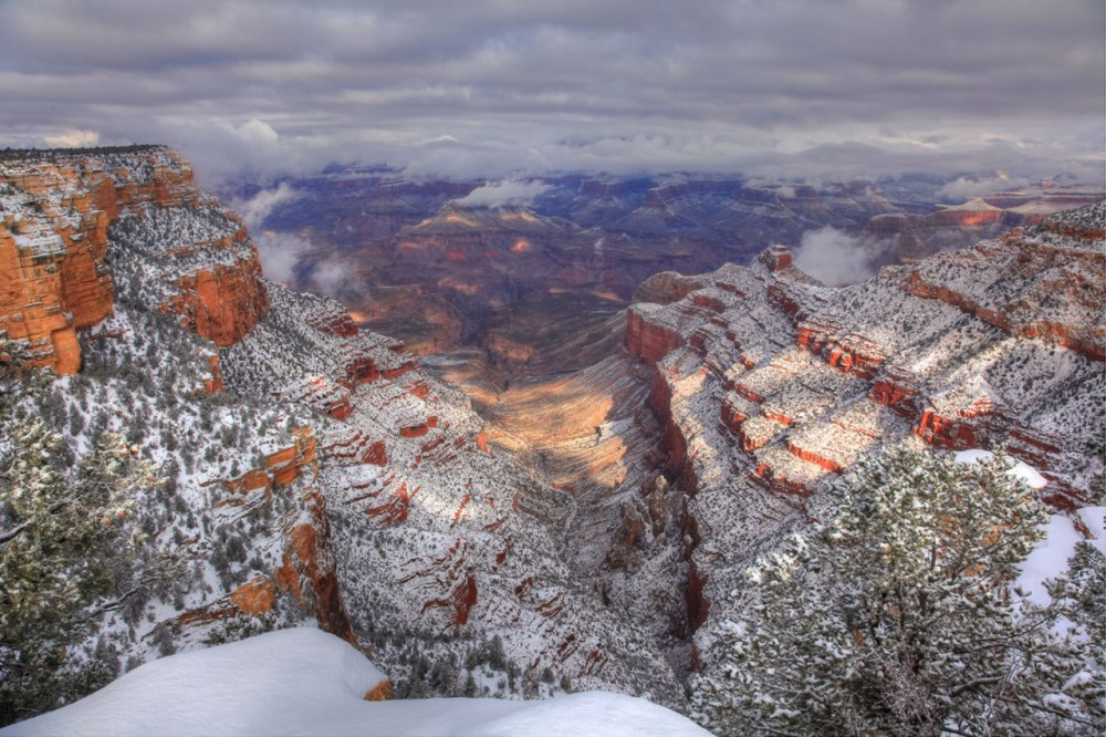 For spectacular views of the Grand Canyon, take Desert View Drive – a scenic 25-mile route on the South Rim of Arizona's Grand Canyon National Park. Photo from Pipe Creek Vista by Jeremy Evans. Posted on Tumblr by the US Department of the Interior, 12/23/16.