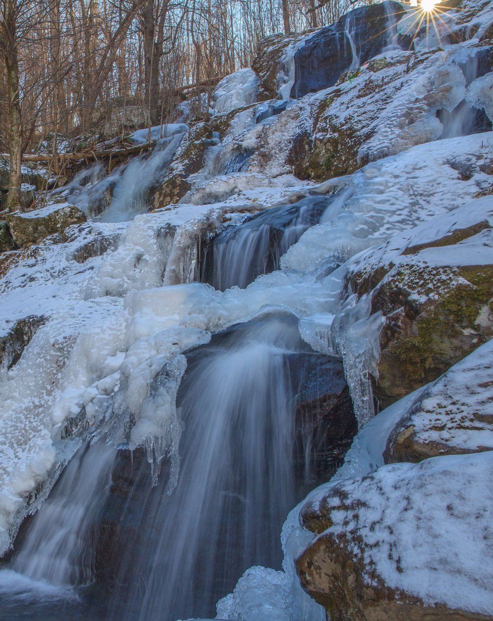 Frozen winter waterfalls transform Shenandoah National Park. Photo by Howard Wu. Tweeted by the US Department of the Interior, 1/6/17.