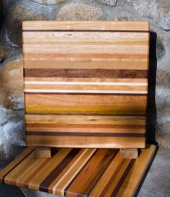 """Cheese Board 17 - 307. Chaos Board. 11"""" x 11"""" x 3/4""""."""