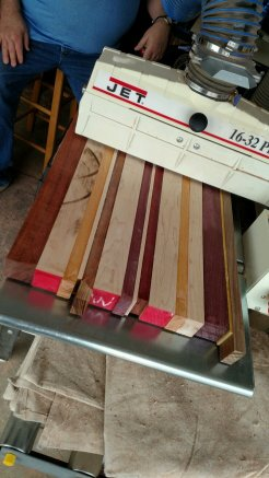 Time for smoothing on the drum sander.