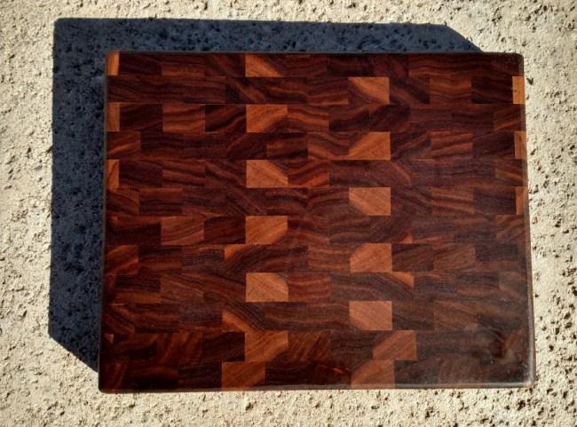 """Small Board 17 - 216. Black Walnut. End Grain. 11-1/4"""" x 9-5/8"""" x 1""""."""