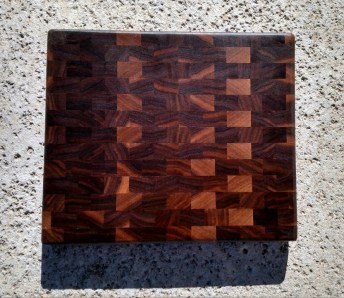 "Small Board 17 - 217. Black Walnut. End Grain. 11-1/4"" x 9"" x 1""."