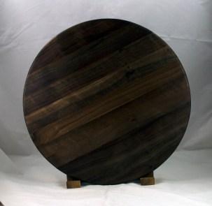 "Lazy Susan 17 - 15. Black Walnut. 17"" diameter."