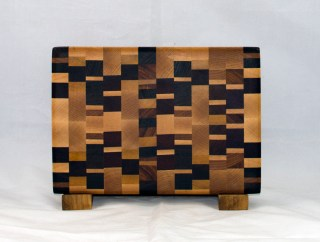 "Small Board 17 - 228. Chaos Board. End grain. 7"" x 11"" x 1""."