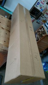 """Not sure why this box was so carefully labeled """"up"""" so many times ... it was full of the stand."""