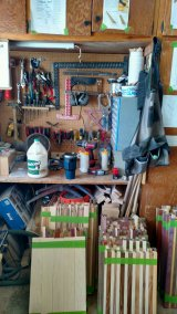 Under the workbench is just as overwhelmed. Not to mention in front of it!
