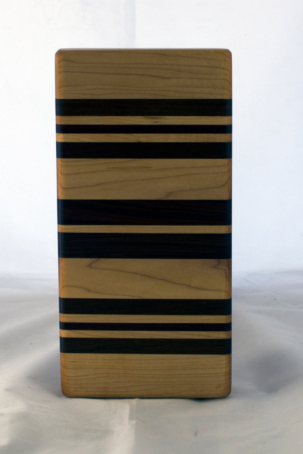 "Small Board 17 - 234. Hard Maple, Purpleheart, Jatoba & Pau Ferro. 5"" x 11"" x 1-1/4""."