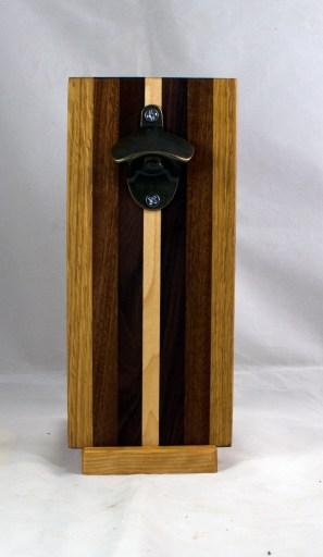 Magic Bottle Opener 17 - 932. Red Oak, Jatoba, Pau Ferro & Hard Maple. Single Magic.