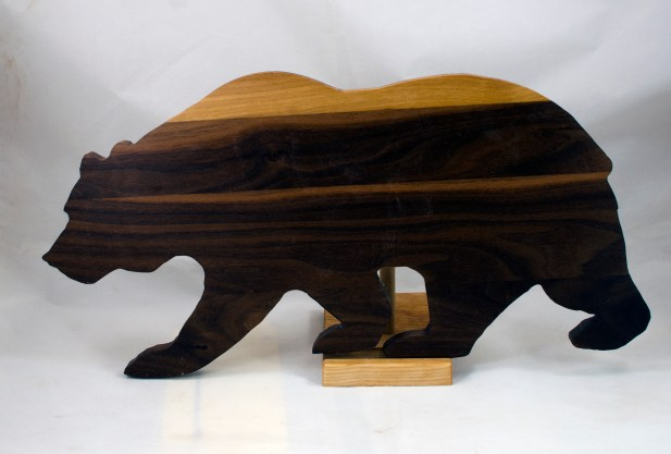 "Bear 17 - 02. Black Walnut. Edge grain. 10"" x 19"" x 3/4""."