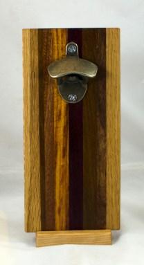 Magic Bottle Opener 17 - 935. Oak, Jatoba, Canarywood, Purpleheart & Black Walnut. Double Magic.