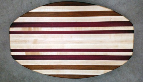 Cheese & Cracker Server 17 - 04. Jatoba, Hard Maple & Purpleheart.