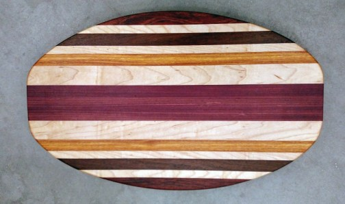 Cheese & Cracker Server 17 - 06. Bubinga, Hard Maple, Jatoba, Purpleheart & Canarywood.