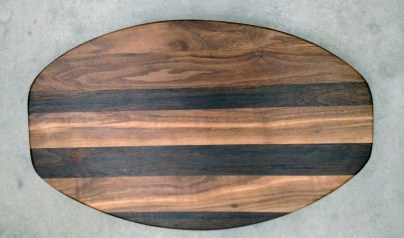 Cheese & Cracker Server 17 - 08. Black Walnut.