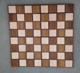 Chess 17 - 308. Hard Maple, Teak & Black Walnut.