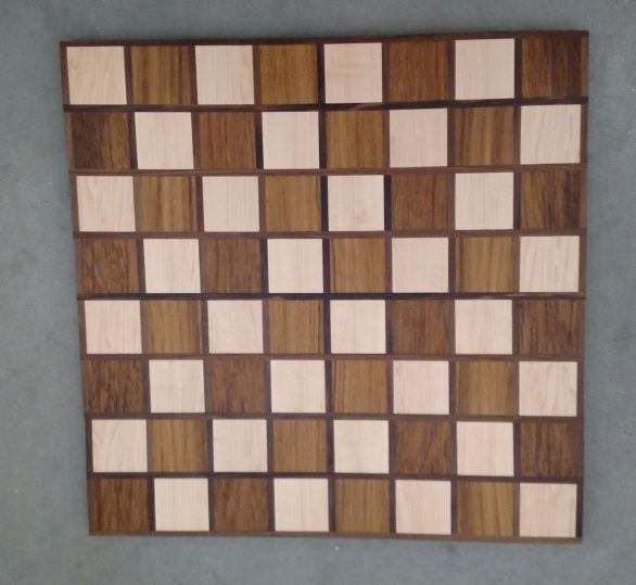 Chess 17 - 308. Hard Maple, Teak & Black Walnut.