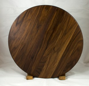 Lazy Susan 17 - 24. Black Walnut.