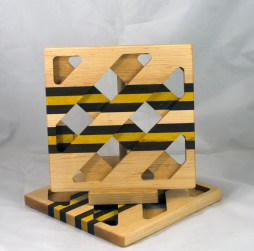Trivet 17 - 09. Hard Maple, Jatoba & Yellowheart.