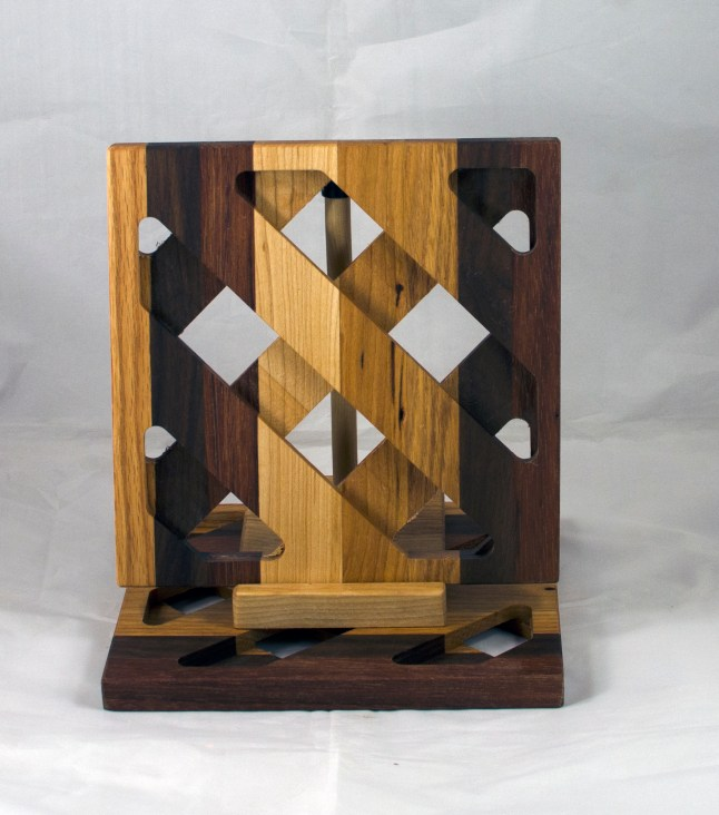 Trivet 17 - 16. Oak, Black Walnut, Jatoba, Hard Maple & Cherry. Commissioned Piece.