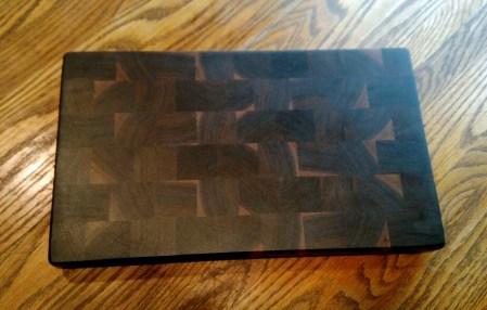 """Cutting Board 18 - 702. Black Walnut. End Grain. 9"""" x 16"""" x 1""""."""