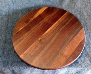 "Lazy Susan 18 - 01. Black Walnut. 18"" diameter."