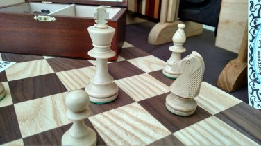 "Chess 18 - 02. Black Walnut & Ash. 2"" squares."