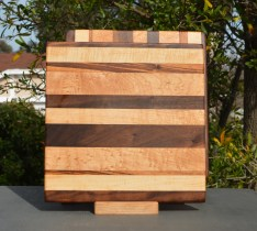 Cheese Baord 18 - 106. Chaos Board. Black Walnut, Hard Maple & Goncalo Alves.