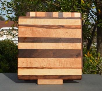Cheese Baord 18 - 106. Chaos Board. Black Walnut, Hard Maple & Goncalo Alves.
