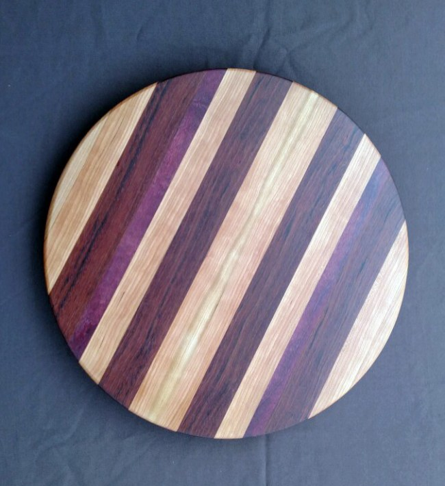 Lazy Susan 18 - 08. Cherry, Purpleheart & Jatoba.