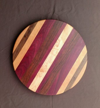 Lazy Susan 18 - 09. Cherry, Black Walnut, Purpleheart & Jatoba.